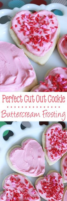 This simple Perfect Cut Out Cookie Buttercream Frosting is made with 4 ingredients and tastes amazing! Quick Dessert Recipes, Cookie Recipes, Delicious Desserts, Cut Out Cookies, Buttercream Frosting, Cookie Frosting, Christmas Baking, Christmas Cookies, Holiday Recipes