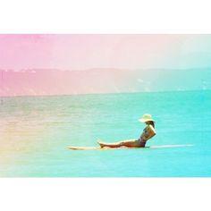 Rainbow surf happiness
