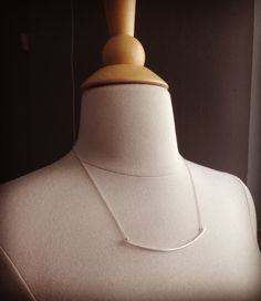 Squared Arc Necklace by allisonmooney on Etsy
