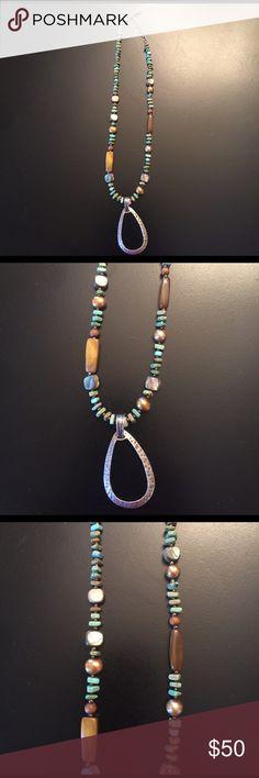 "Reduced...Silpada Necklace Stunning Blue/greenSilpada necklace. 20"". Good condition Silpada Jewelry Necklaces"