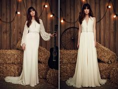 Sometimes less is more, and all you need to make your day perfect is a simple wedding dress made in a classy manner. For brides looking to present the impression of unforced elegance, prepare to fall in love!  Dresses: Abel b K  Dresses: Jaymi Bride  Dress: Aire Barcelona  Dresses: Jesus Peiro …