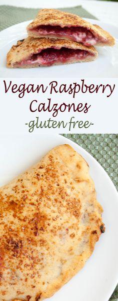 Vegan Raspberry Calzones (vegan, gluten free) Why settle for toast with raspberry jam and vegan cream cheese when you can have Vegan Raspberry Calzones!
