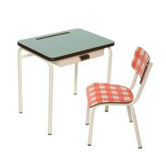 bureau-regine-bleu-jade-et-chaise-little-suzie-vichy