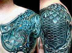 Top 90 Best Armor Tattoo Designs For Men - Walking Fortress Schulterpanzer Tattoo, Hand Tattoos, Norse Tattoo, Neue Tattoos, Viking Tattoos, Body Art Tattoos, Samoan Tattoo, Polynesian Tattoos, Fish Tattoos