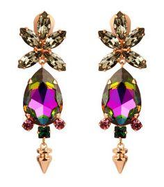 Pink Fall Accessories Trend at #ShopBAZAAR -  Bruno Magli Mawi Drop Earrings