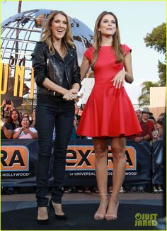 Celine Dion Tapes 'Extra' Appearance with Maria Menounos! | celine dion tapes extra appearance with maria menounos 14 - Photo   I'M RIGHT BEHIND HER!!