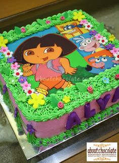 Awe Inspiring 37 Best Cakes Dora The Explorer Images Dora The Explorer Dora Personalised Birthday Cards Veneteletsinfo