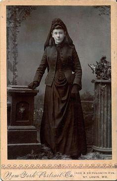 Beautiful Young Mourner, Albumen Cabinet Card, Circa 1885
