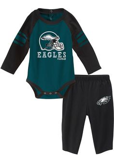 59e572d1f2f Philadelphia  eagles Baby Teal Future Starter One Piece - Image 1  Philadelphia Eagles T Shirt