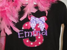 Short Sleeve Danskin Birthday Monogrammed Personalized Leotard-gymnastics, dance, leotard, appliqued, personalized, custom, embroidered, girls, initial, pink, danskin, gymnastics, birthday, party, name