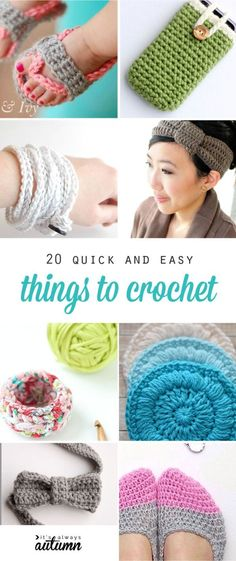 great ideas for easy, quick, beginner crochet projects