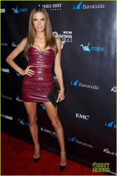 Alessandra Ambrosio Heat Up the Red Carpet at Leather & Laces Party!