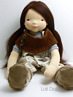 PDF Pattern 20 Wildflower doll **Please note this is a PDF pattern not a finished toy. No refunds will be given for pattern purchases. Pattern is available in English only at this time.  Learn to make Lali Dolls Wildflower doll, approx. 20 doll. You will learn to make the doll from beginning to end. There are step by step photos for each step. Learn cutting out the parts, sewing the parts, shaping the facial features, stuffing the parts, assembling the doll and finishing the face. This…