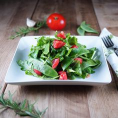 Romano Bean Arugula Salad from @Patty Price / Patty's Food