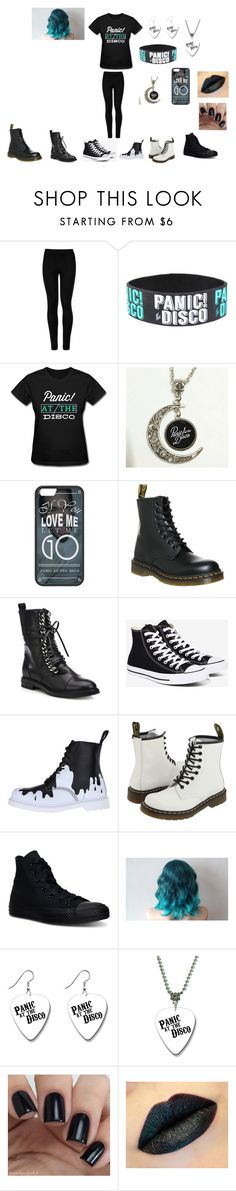"""Panic! At The Disco"" by meagannicolebarrett on Polyvore featuring Wolford, Dr. Martens, Casadei and Converse"