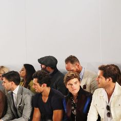 Can we just discuss this #frow... @johanneshuebl  @davidgandy_official  @oliver_cheshire  @paulsculfor     #christopherraeburn #davidgandy #olivercheshire #johanneshuebl #lcm #ss17 #lcmss17 #londoncollections #london #menswear #fashion #fbloggers #style #trends #aesthetic #design #model #models #grooming #guys #guyswithstyle #mancrushmonday #mcm #men #menwithstyle #instafit #instafashion #instastyle #instagay