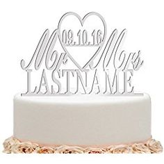 ivisi Mirror Silver Wedding Cake Toppers Personalized Mr And Mrs Last Name Surname Personalized Wedding Cake Toppers, Gold Wedding, Perfect Wedding, Wedding Cakes, Sparkle, Place Card Holders, Make It Yourself, Silver, Wedding Ideas