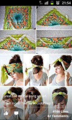 Scarf tying tutorial - hair
