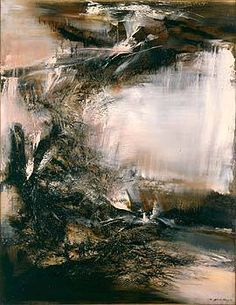 Zao Wou Ki Japanese Painter He Started Out Studying Calligraphy Then Chinese  C B Abstract Art