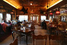 The Pump House Restaurant, Fairbanks, Alaska.  The food was great and the atmosphere was fatastic.