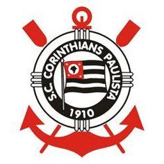Sport Club Corinthians Paulista: Surgem a âncora e os dois remos vermelhos, que se referem aos esportes náuticos praticados no clube. Arte-final realizada pelo pintor Francisco Rebolo Gonsales, ex-jogador. 1939 - 1979