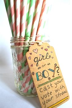 Paper Straw FINAL CLOSE OUT - cute baby guessing idea!