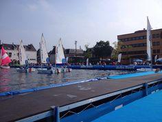 Weer een fantastische dag bij de Optimist on Tour. Vandaag is ook Sailwise met een speciale boot voor kinderen met een handicap aanwezig!