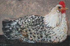 Pastel drawing by Dutch artist Loes Botman Coqs, The Barnyard, Chicken Art, Hens And Chicks, Dutch Artists, Pastel Drawing, Roosters, Artsy, Crafty