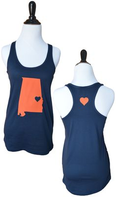 Look what JUST came in :) We're in Auburn Love!!! Auburn Tank - www.TailgateQueen.com - State Love