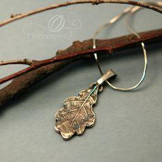 Oak leaf silver pendant.   Melonarium - Karolina Melon Jewellery   http://melonarium.com
