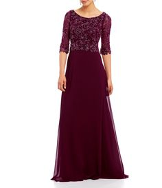 ff4a091d1cf6 Shop for Mon Cheri Cameron Blake Beaded Lace Bodice A-Line Gown at Dillards.
