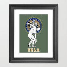 UCLA ...let there be light Framed Art Print by mauro mondin - $35.00