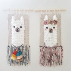 boy or girls style mention it when u pay:) handmade unique style wall decor if u want a set just select 2 pieces size included woodhanger :) Thanks worldwide shipping Crochet Wall Hangings, Weaving Wall Hanging, Weaving Art, Tapestry Weaving, Loom Weaving, Hand Weaving, Crochet Home, Love Crochet, Crochet Baby