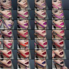 Kat Von D's Everlasting Liquid Lipstick  Here's a chart I made using screenshots taken from Jessica Haze's YouTube video (https://www.youtube.com/watch?v=LZBPrFQPKC4) with names of each color and descriptions I got from Sephora.com  #katvond #everlastingliquidlipstick #sephora