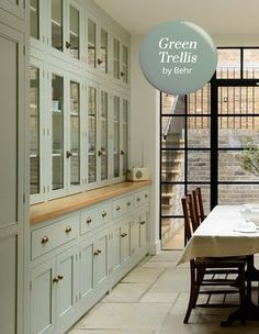 Diy kitchen island extension - Is Grey Out 6 Neutral Paint Colors To Try Now – Diy kitchen island extension Green Kitchen Cabinets, Outdoor Kitchen Countertops, Kitchen Cabinet Colors, Painting Kitchen Cabinets, Kitchen Paint, Kitchen Redo, Kitchen Colors, New Kitchen, Kitchen Ideas