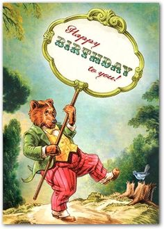 Happy Birthday to You Bear by Cartolina Cards: Modern Paper Goods Birthday Greetings Friend, Happy Birthday Quotes, It's Your Birthday, Birthday Messages, Birthday Images, Birthday Wishes, Girl Birthday, Birthday Stuff, Bear Birthday
