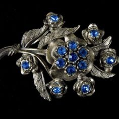 Blue Rhinestone Brooch – Signed L/N (Little Nemo)
