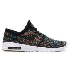 Nike Stefan Janoski Max PRM BLACK BLACK White Gum 807497 003                                                                                                                                                                                 More