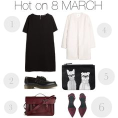 Hot on 8 MARCH by johanna-dn on Polyvore featuring MANGO, Dr. Martens, Alexander Wang, Monki and The Cambridge Satchel Company