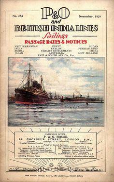 adventures-of-the-blackgang: British India Steam Navigation Co. Sailings November 1929-August 1930 Ports of call:London, Gibraltar, Algiers, Marseilles, Malta, Port Said, Aden, Bombay