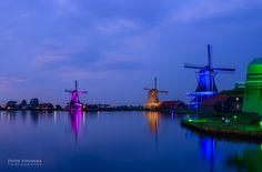 Zaanse Schans illuminated by Pieter Struiksma on 500px