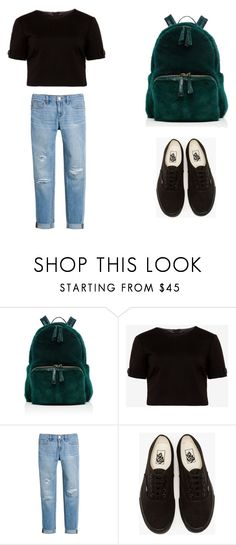 """greenbackpack"" by mercelago on Polyvore featuring moda, Nancy Gonzalez, Ted Baker, White House Black Market i Vans"
