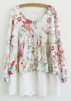 floral + eyelet... If only the cut was a little less maternity to me, but I'd still wear it