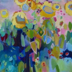 Sunflowers   Corre Alice #colorful #abstract #art