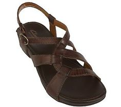 7c79f9736ef9a1 Clarks Passage Fin Leather Sandals with Adj. Strap