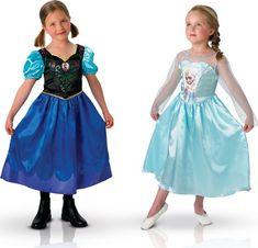 Coppia di costumi per bambine Anna ed Elsa Disney Frozen™ Carnevale su…