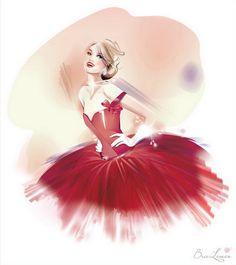 Chiffon Dress Illustration