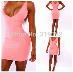 2014 New arrive Summer fashion hot pink Sling sleeveless front and back open high waist short dress for ladies night club