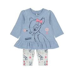 Disney Baby Bambi Top and Leggings Outfit Set USA - Character Outlet - Baby Clothes! Disney Baby Clothes Girl, Hippie Baby Clothes, Unique Baby Clothes, Baby Clothes Online, Toddler Girl Outfits, Disney Baby Outfits, Toddler Girls, Legging Outfits, Outfits Niños