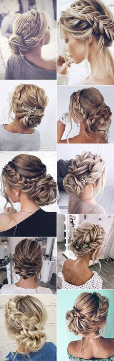 stunning braided updo wedding hairstyles Hairstyles tresse 18 Best Braided Wedding Hairstyles We Love - Oh Best Day Ever Braided Hairstyles For Wedding, Braided Updo, Bride Hairstyles, Down Hairstyles, Wedding Hair And Makeup, Wedding Updo, Bridal Hair, Bridal Tips, Natural Hair Styles